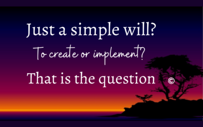 Simple will?